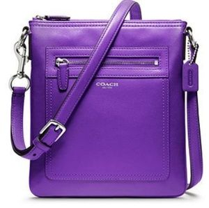 COACH Legacy Leather Swingpack- Ultraviolet Purple